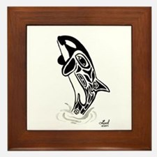 Orca Spirit Framed Tile