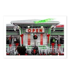 Cool Christmas diner Postcards (Package of 8)