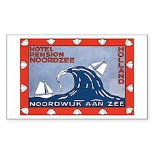 Noordzee Holland Rectangle Decal