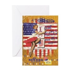 """Red Dog """"Love our Heroes"""" Greeting Card"""