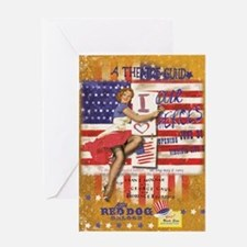 "Red Dog ""Love our Heroes"" Greeting Card"