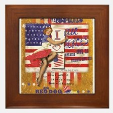 "Red Dog ""Love our Heroes"" Framed Tile"