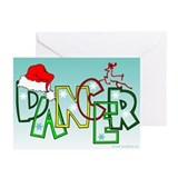 Dancer reindeer Greeting Cards (10 Pack)