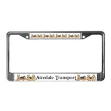 Airedale Terrier Chef License Plate Frame