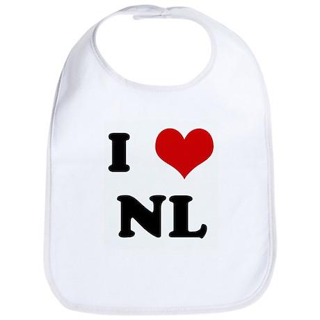 I Love NL Bib