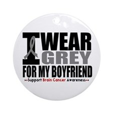 I Wear Grey Boyfriend Ornament (Round)