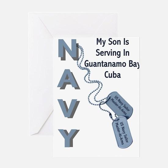 Cute Navy dad Greeting Card