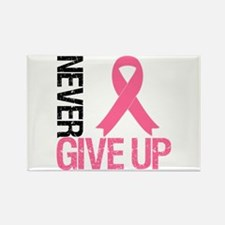 NeverGiveUp Breast Cancer Rectangle Magnet (10 pac