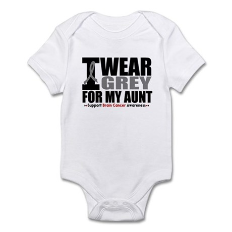 I Wear Grey Aunt Infant Bodysuit