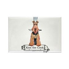 Airedale Terrier Chef Rectangle Magnet
