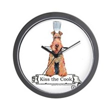 Airedale Terrier Chef Wall Clock