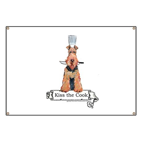 Airedale Terrier Chef Banner