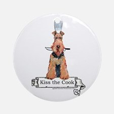 Airedale Terrier Chef Ornament (Round)