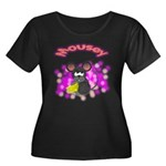 Mousey Women's Plus Size Scoop Neck Dark T-Shirt