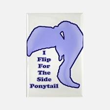 I Flip For The Side Ponytail - Rectangle Magnet