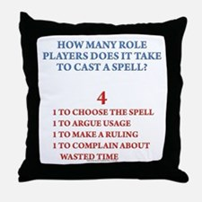 How many players... Throw Pillow