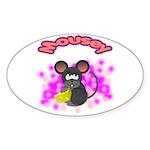 Mousey Oval Sticker (10 pk)