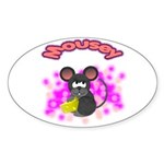 Mousey Oval Sticker