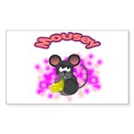 Mousey Rectangle Sticker