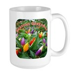 Pepper Christmas Lights Large Mug