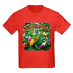Pepper Christmas Lights Kids Dark T-Shirt