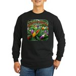 Pepper Christmas Lights Long Sleeve Dark T-Shirt