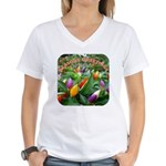 Pepper Christmas Lights Women's V-Neck T-Shirt