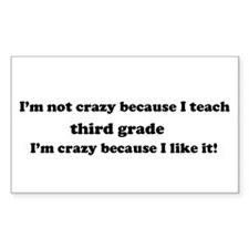3rd Grade Crazy Rectangle Decal