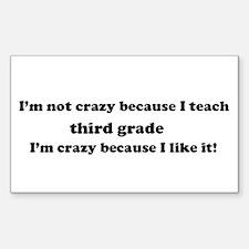 3rd Grade Crazy Rectangle Decal