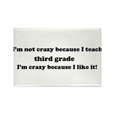 3rd Grade Crazy Rectangle Magnet