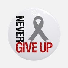 NeverGiveUp Brain Cancer Ornament (Round)