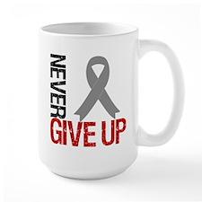 NeverGiveUp Brain Cancer Mug