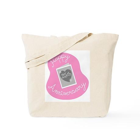 Happy 25th Anniversary Tote Bag