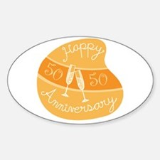 Happy 50th Anniversary Oval Decal