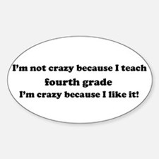 4th Grade Crazy Oval Decal