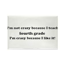 4th Grade Crazy Rectangle Magnet