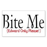 Bite Me Rectangle Sticker