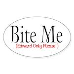 Bite Me Oval Sticker (10 pk)