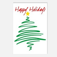 Happy Holidays (Tree) Postcards (Package of 8)