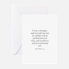 MATTHEW  25:43 Greeting Cards (Pk of 10)