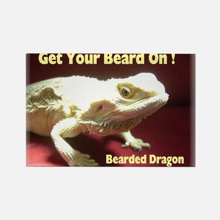 Get your beard on! Rectangle Magnet