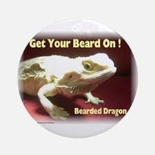 Get your beard on! Ornament (Round)