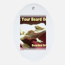 Get your beard on! Oval Ornament