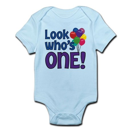 LOOK WHO'S ONE! Infant Bodysuit