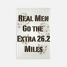 Real Men Go The Extra 26.2 Miles Rectangle Magnet