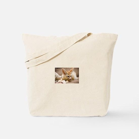 Flash the fennec fox licking Tote Bag