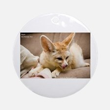 Flash the fennec fox licking Ornament (Round)