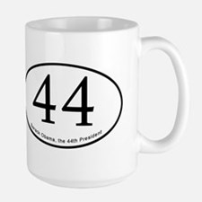 Barack Obama, 44th President Large Mug