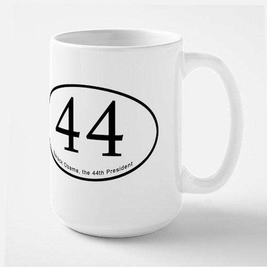 Barack Obama, 44th President Large Mug