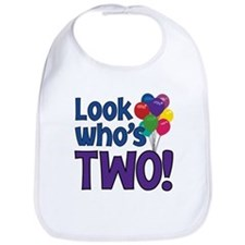 LOOK WHO'S TWO! Bib